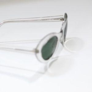 46c41033c3 J. Crew Accessories - Vintage J. Crew Clear Frame Piper Sunglasses